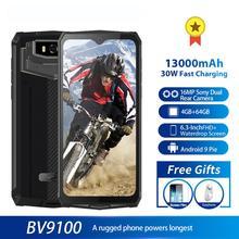 4g смартфон Blackview BV9100 защищенный, IP68, 13000 мА ч, 30 Вт, 4G, MTK6765, 4 + 64 ГБ, 16 МП