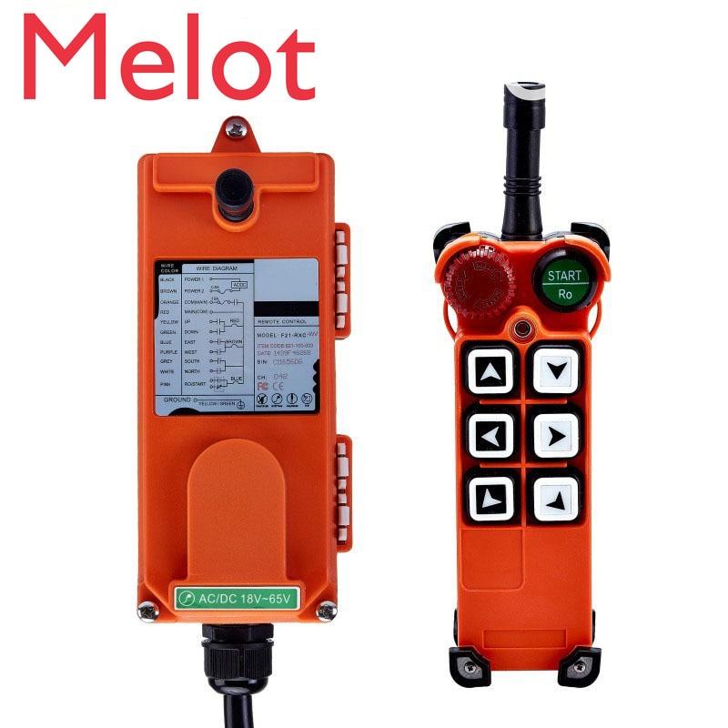 Control remoto Industrial inalámbrico Original TELECRANE Control remoto eléctrico 1 transmisor + 1 receptor F21-E1