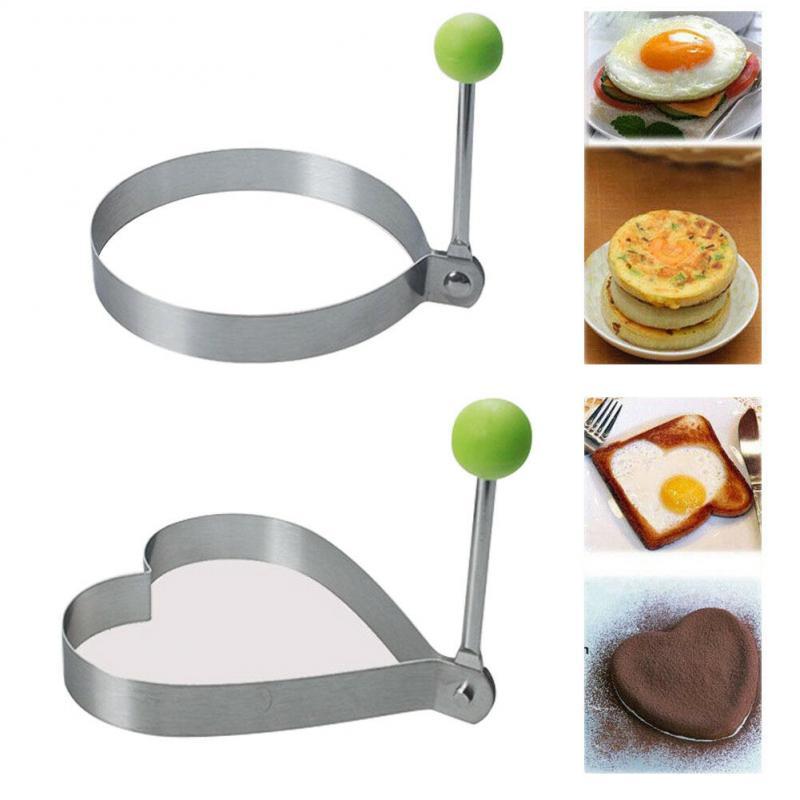 Molde de acero inoxidable para moldear huevos fritos, molde para tortillas, utensilios...