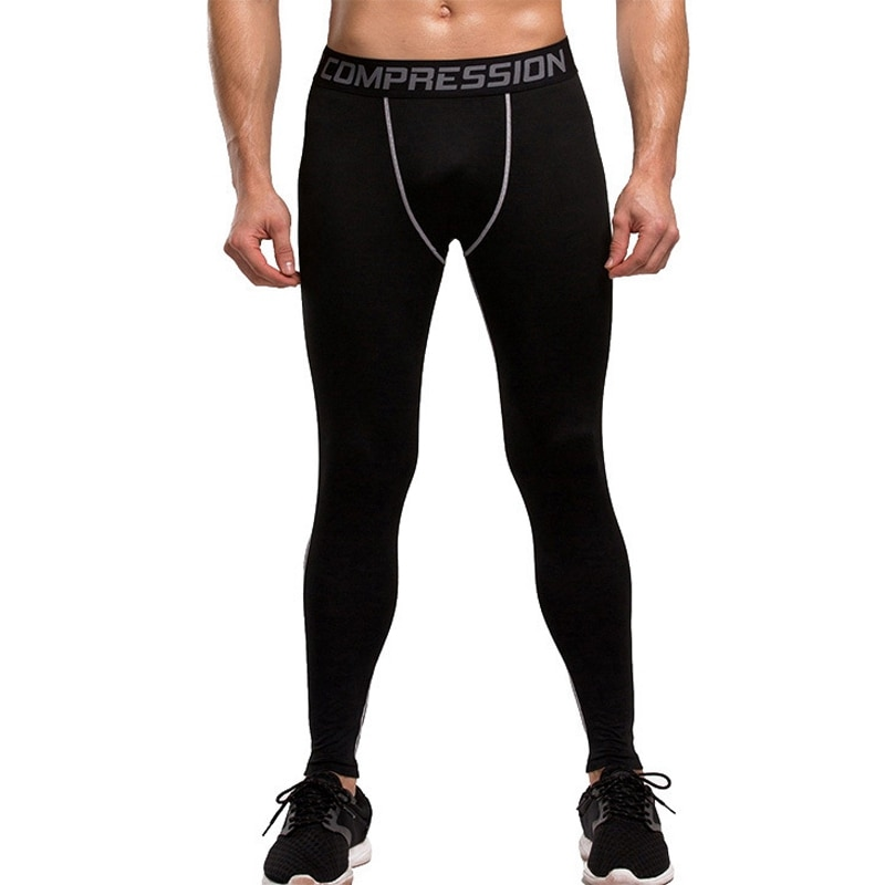 Mallas deportivas de compresión de alta elasticidad para hombres Fitness pantalones de secado rápido hasta el tobillo tamaños de gimnasio