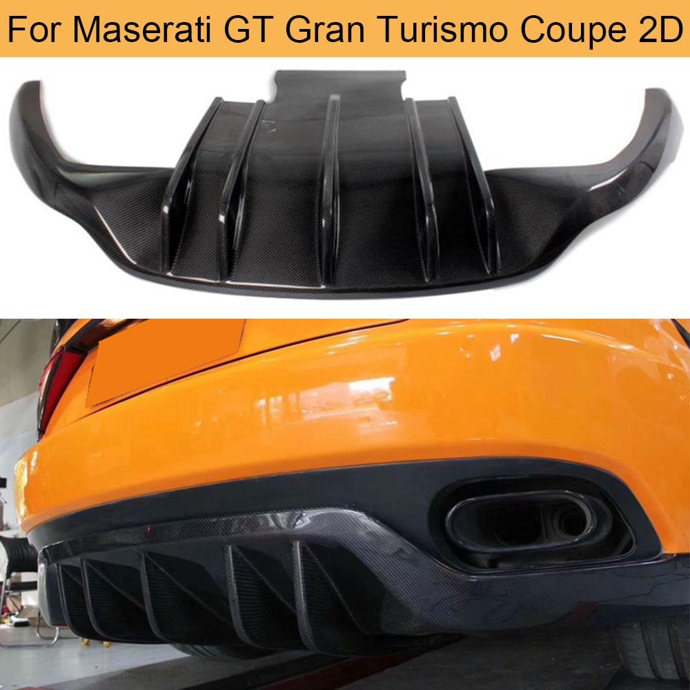 Fibra de carbono para difusor de parachoques trasero labio para Maserati GT Gran Turismo Coupe 2 puertas 2006-2014 trasero difusor labio negro FRPR