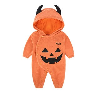 Cute Baby clothes autumn and winter clothes Halloween children's costume pumpkin romper 0-1 years old