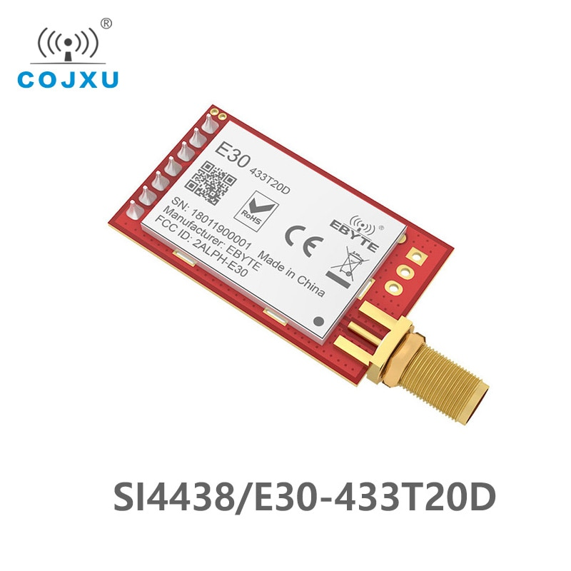 E30-433T20D SI4438 433mhz 20dBm transmitter fixed wireless terminal long range 2500m UART ebyte wake-up on radio SMA-K Antenna