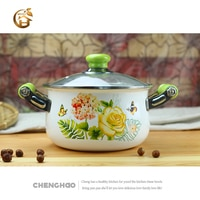 Free Shipping Dutch Oven Thicken Enamel pot Chicken Stew Pot Soup pot Casserole Porridge Pot Induction Dutch Oven