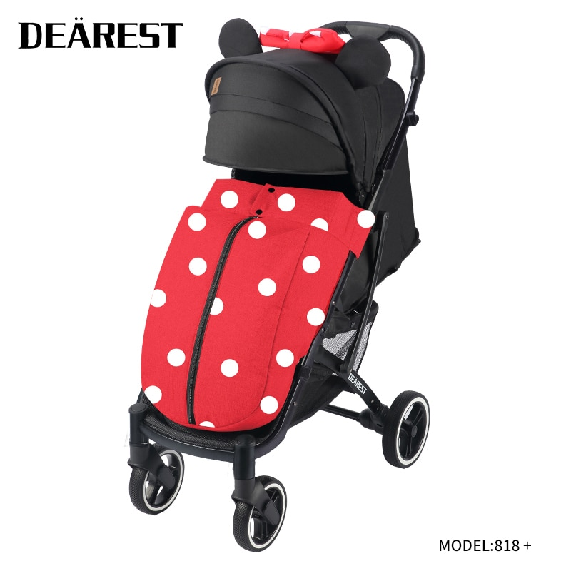 Luxury Infant Dearest818 + Infant Trolley Portable Travel Infant Stroller Folding Infant Trolley Aluminum Alloy Frame High Lands