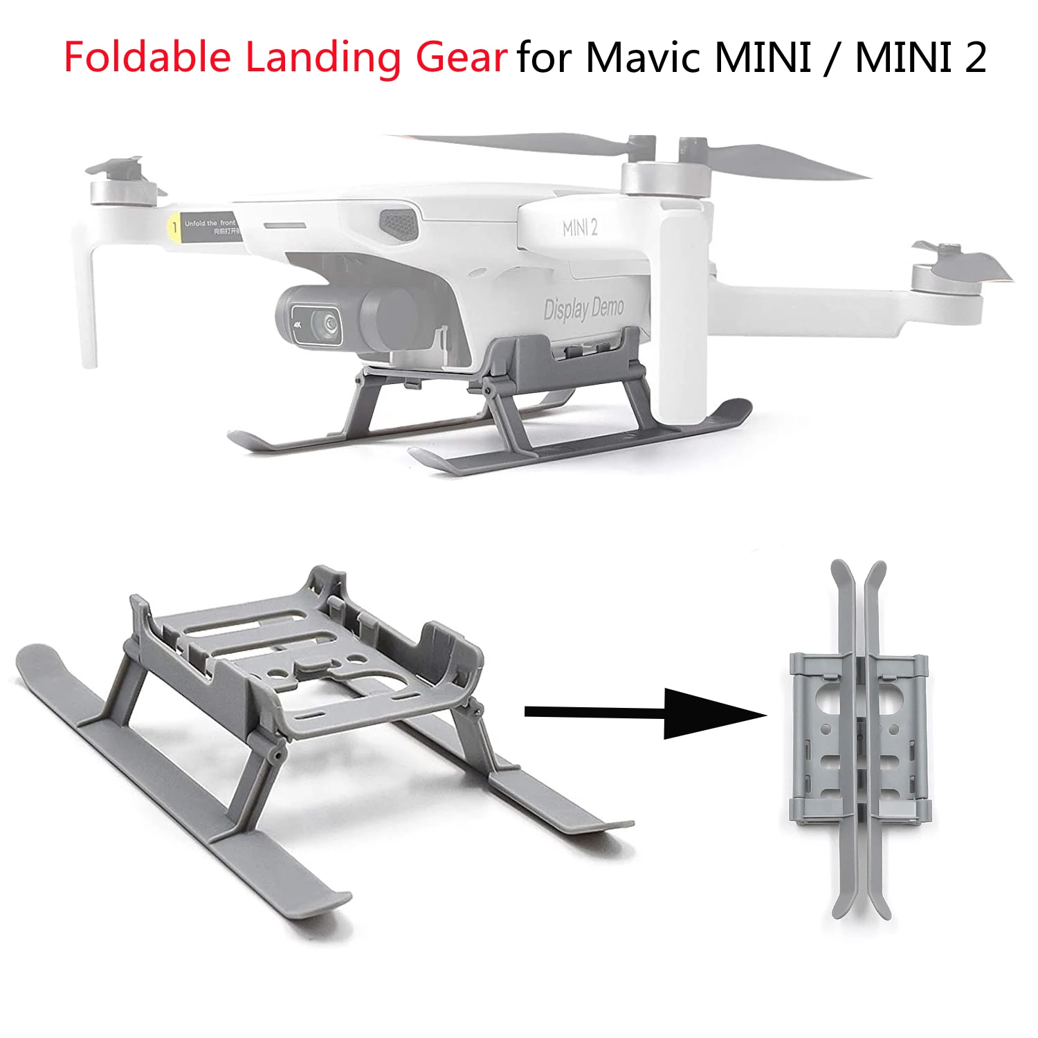 Mini 2 Drone Foldable Landing Gear Extended Height Leg Support Protector Stand Skid For DJI Mavic Mi