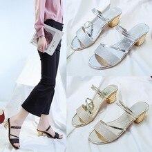 Charol Sandalias de tacón alto zapatos de mujer Peep toe tacones cuadrados sandalias de mujer 2020 zapatos de verano Mujer moda tacón 6 CM
