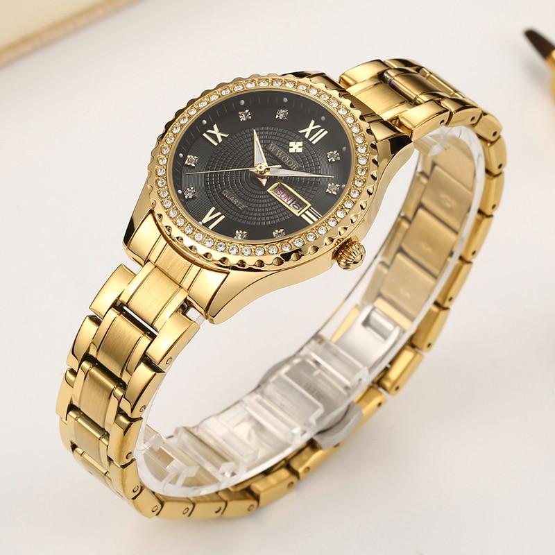 WWOOR Luxury dress diamond gold WristWatch Women Gift 2020 date Waterproof High Quality Stainless Steel fashion lady watch woman enlarge