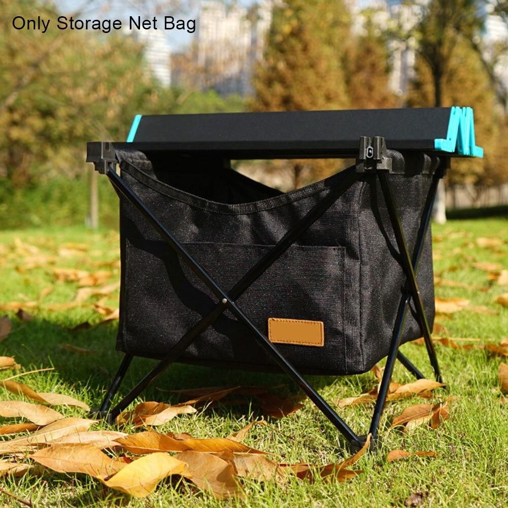 Grande capacidade para piquenique cozinha armazenamento net saco acessórios ao ar livre de acampamento malha oxford pano resistente ao desgaste mesa dobrável
