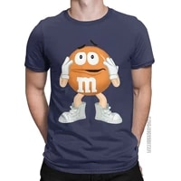 m and ms orange candy chocolate t shirt mens cotton humorous t shirts crew neck tee shirt classic short sleeve tops unique