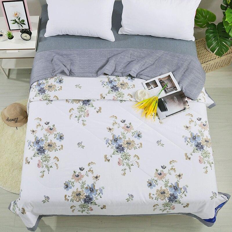 1 قطعة الطباعة القطن الخالص مريحة وناعمة المفرش لحاف صيفي بطانية المعزي المنسوجات المنزلية