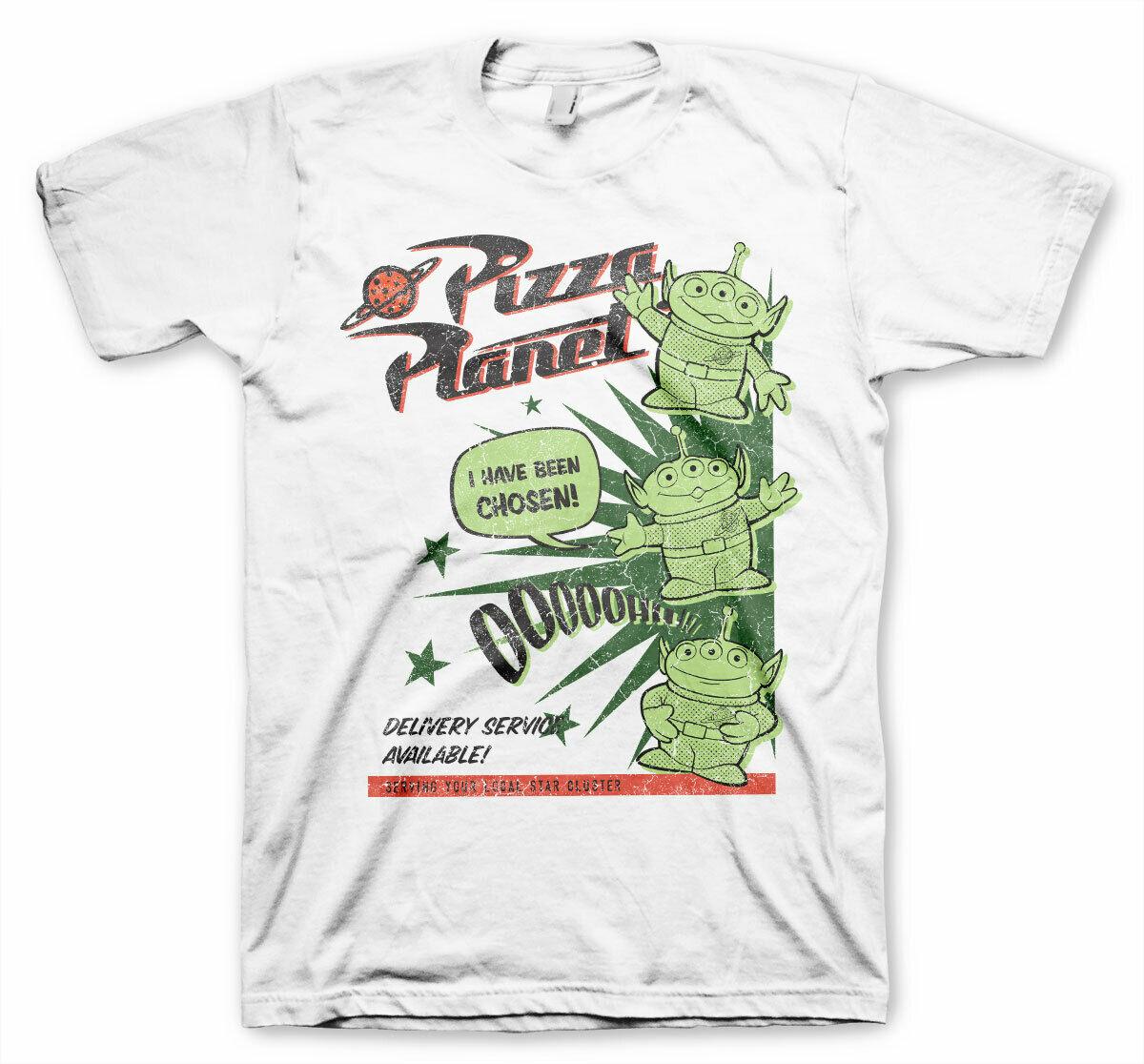 Camiseta oficial TOY STORY 4 PIZZA PLANET ALIENS I HAVE BEEN choosen blanco manga larga Hoddies unisex hoddie Camiseta de manga corta Shi