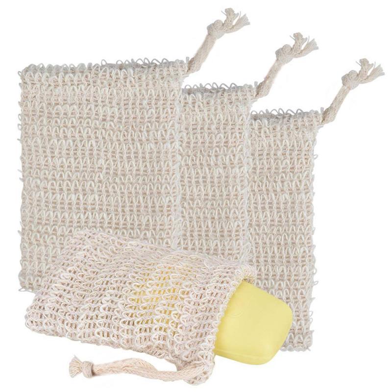 Home Sisal Soap Bag Blister Foam Sponges Double-layer Mesh Soap Net Foaming Easy Bubble Linen Mesh B