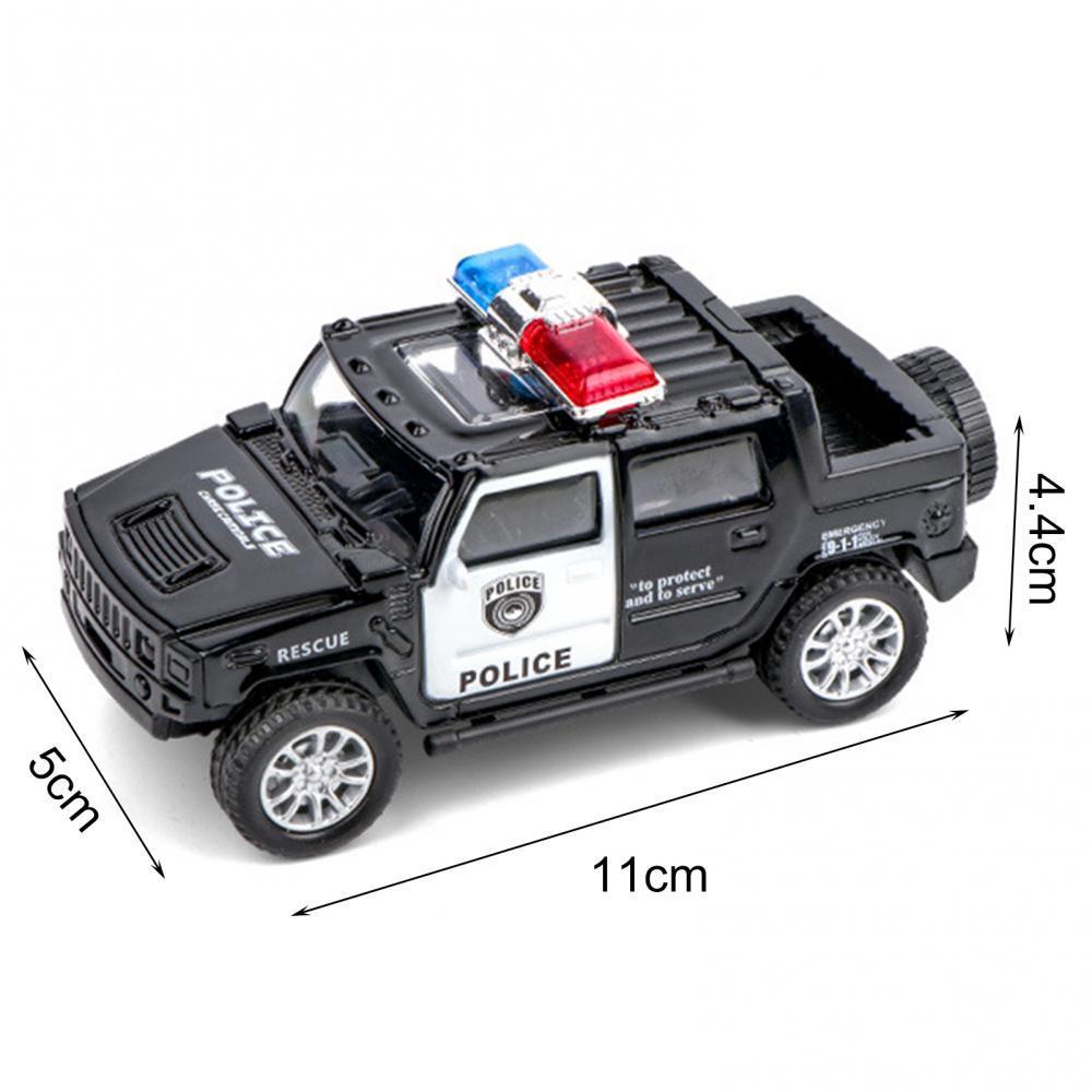 Модель полицейского автомобиля 1/36, модель грузовика, детская игрушка, рождественский подарок