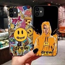 Marque de luxe Drew Maison Justin Bieber Étui Souple Pour iPhone 11 Pro MAX Smiley Pour iPhone X SE 6 6S 7 8 Plus XR Xs Max