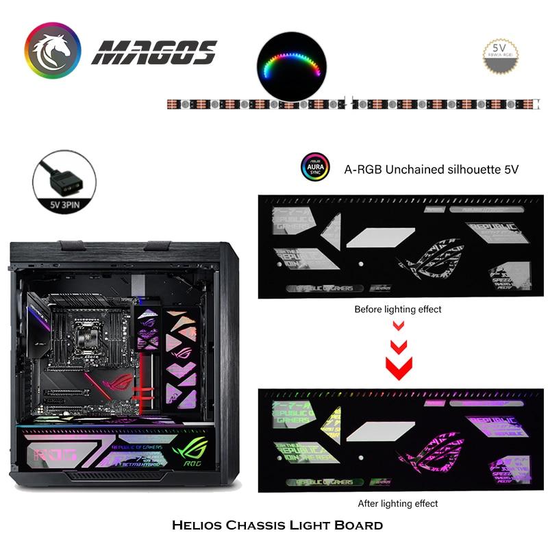 RGB Light Panel Backplate Dynamic Display For Asus ROG Strix Helios Case,PC Gamer DIY LED Computer Case Decoration,5V M/B SYNC