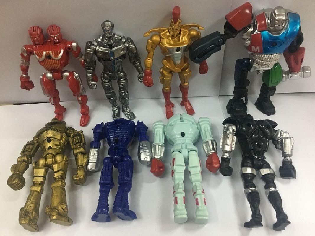 2020 nuevo Robot de acero Real Zeus Atom Midas Adam Raider modelo juguetes regalo acción figura 8 unids/set 13cm