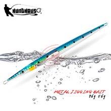 Hunpalace fishing needle jig long metal rattle lure 140mm/36g 160mm/56g UV affondamento lento jigging Shore spoon attrezzatura artificiale