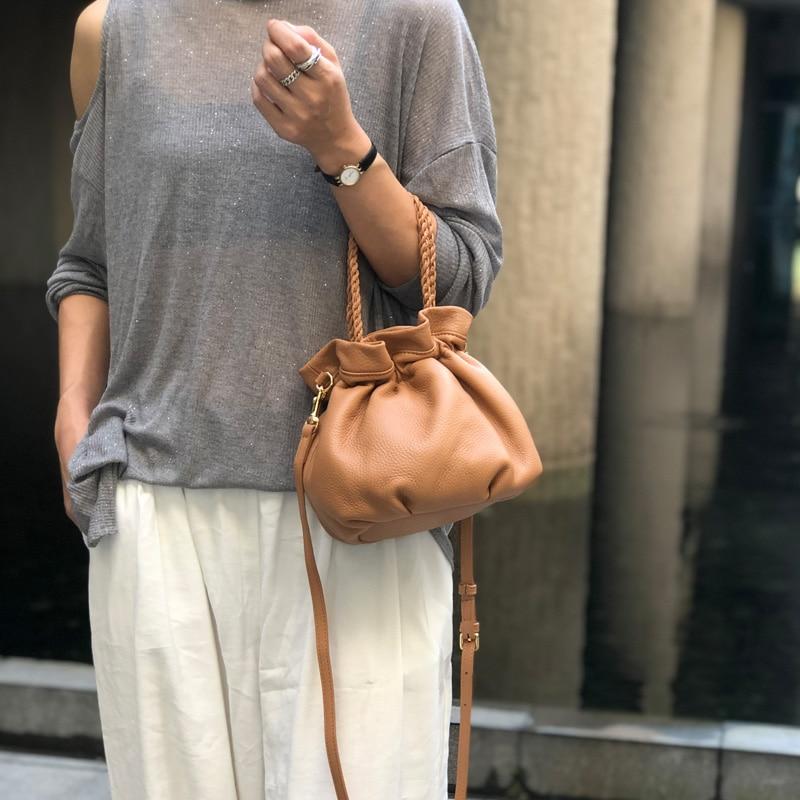 soft leather single shoulder bagrecreational cowhide bag