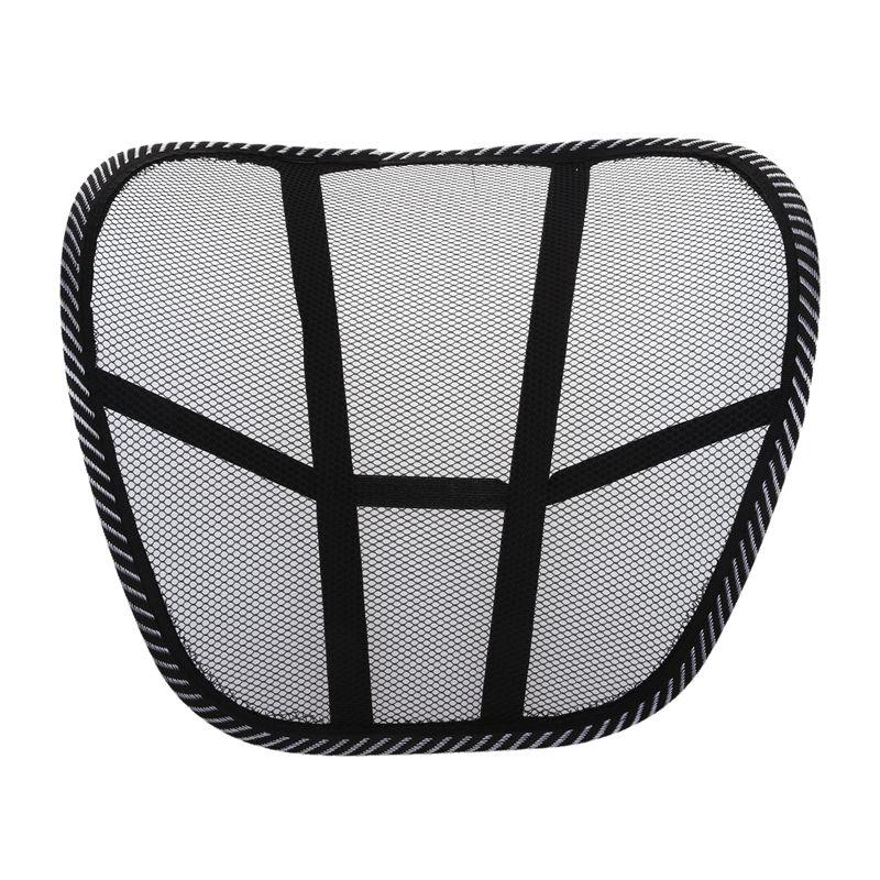 Malha lombar voltar cinta suporte cadeira almofada assento cintura travesseiro postura corrector