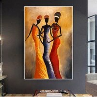 african vintage portrait woman oil painting on canvas posters and prints scandinavian canvas art wall picture living room decor