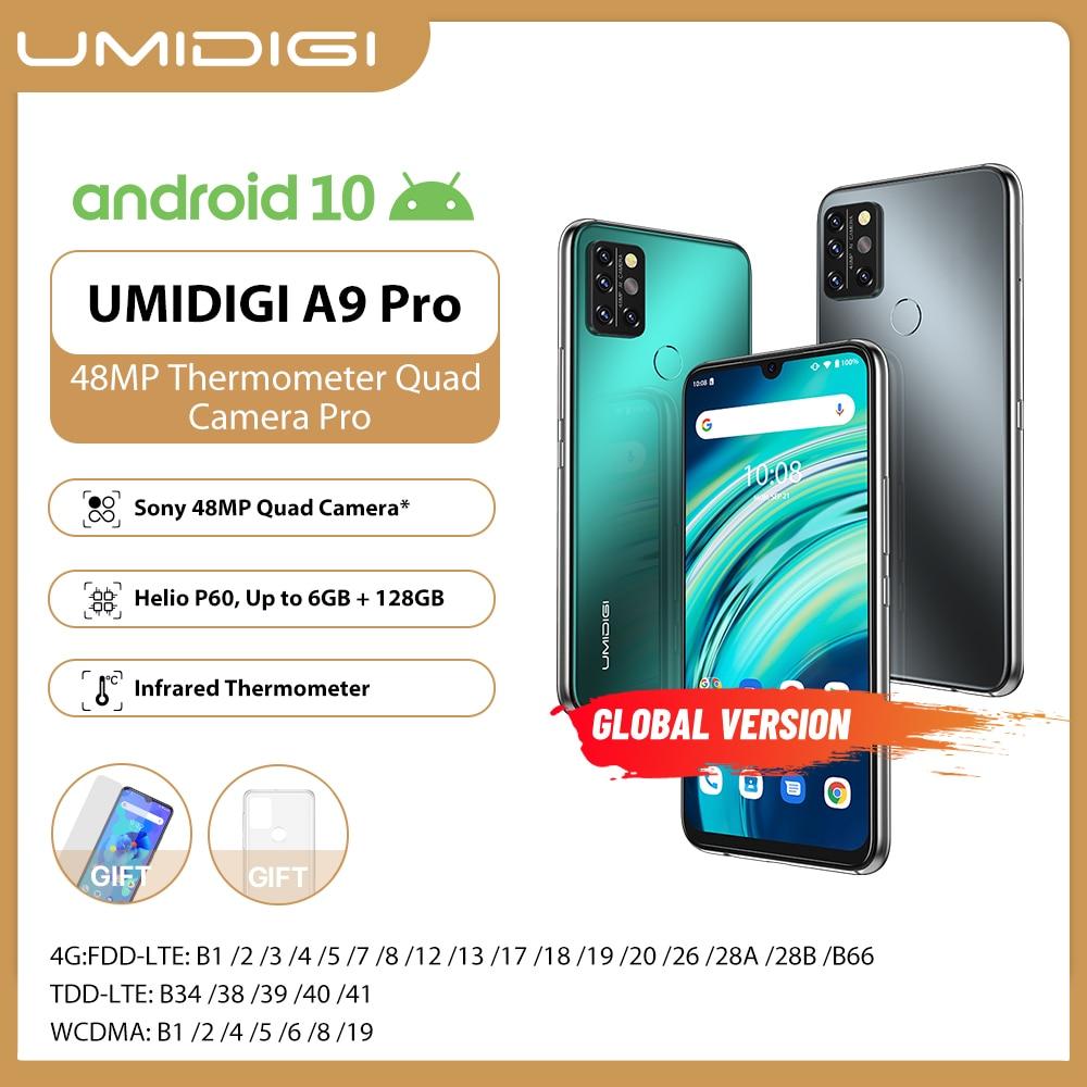 UMIDIGI A9 Pro SmartPhone Unlocked 32/48MP Quad Camera 24MP Selfie 4GB 64GB/6GB 8GB 128GB Helio P60 6.3