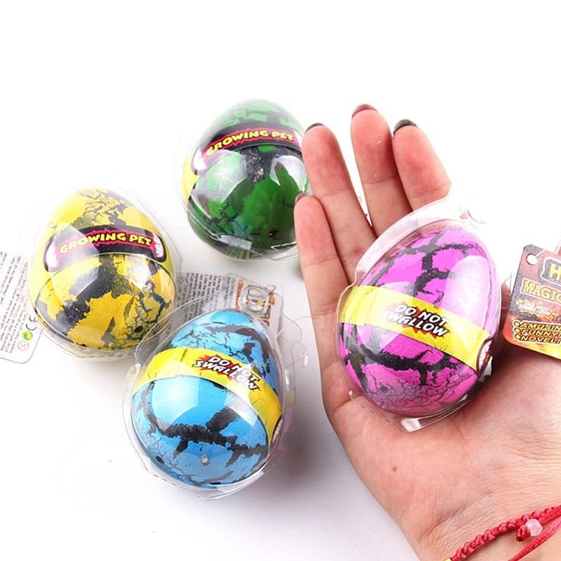 4 Uds huevos de dinosaurio incubándose en el agua de gran tamaño creciente de huevos de dinosaurio crecer huevo novedad educativos regalo niños regalo para niños Juguetes