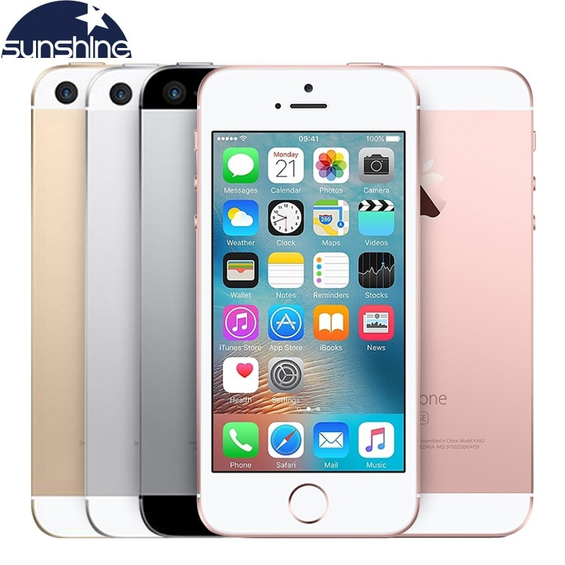 Review Original Unlocked Apple iPhone SE 4G LTE Mobile Phone iOS Touch ID Chip A9 Dual Core 2G RAM 16/64GB ROM 4.0″12.0MP Smartphone