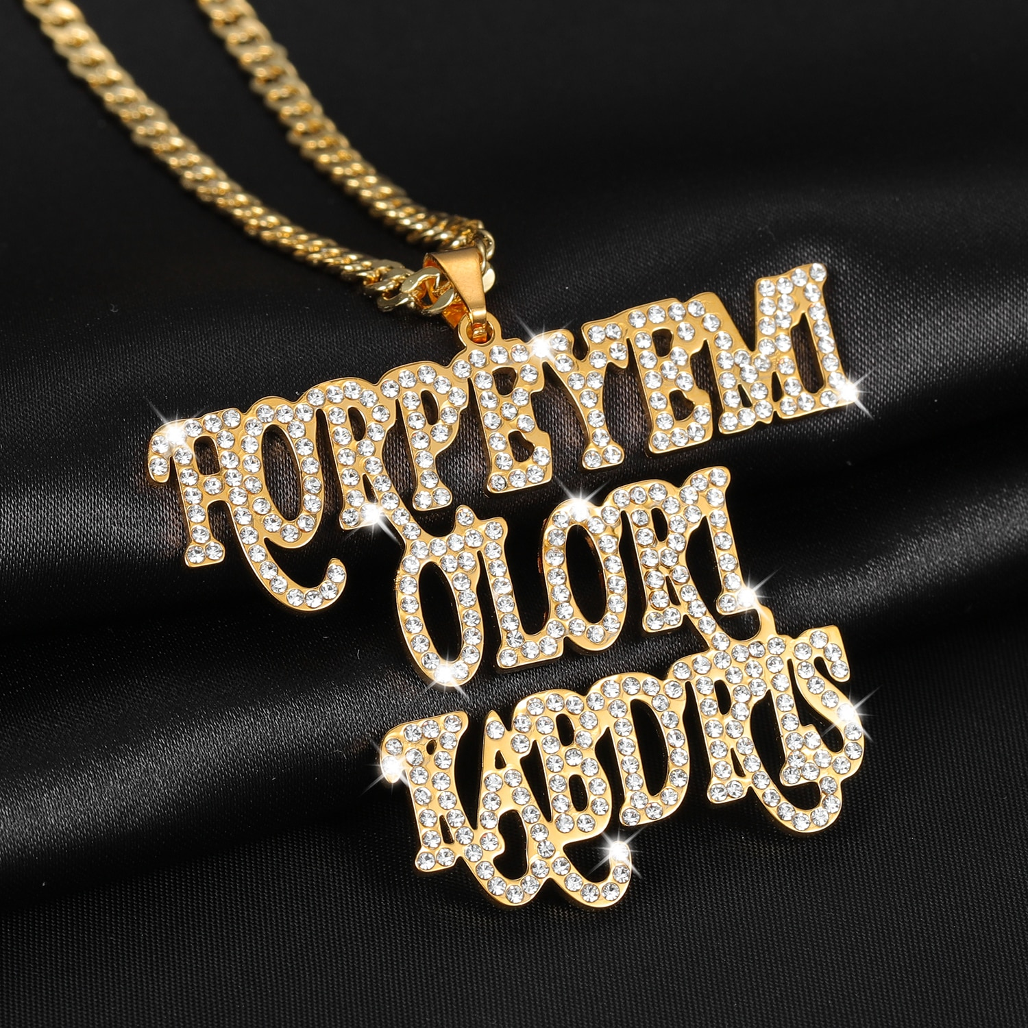 Customized Name Zirconia Double Necklace Personalized Iced Out  Nameplate Necklace Thick Chain Hip Hop Choker Jewelry Women Men hip hop jewelry cuban chain customized nameplate necklaces for women men punk gold tone solid personalized custom name necklace