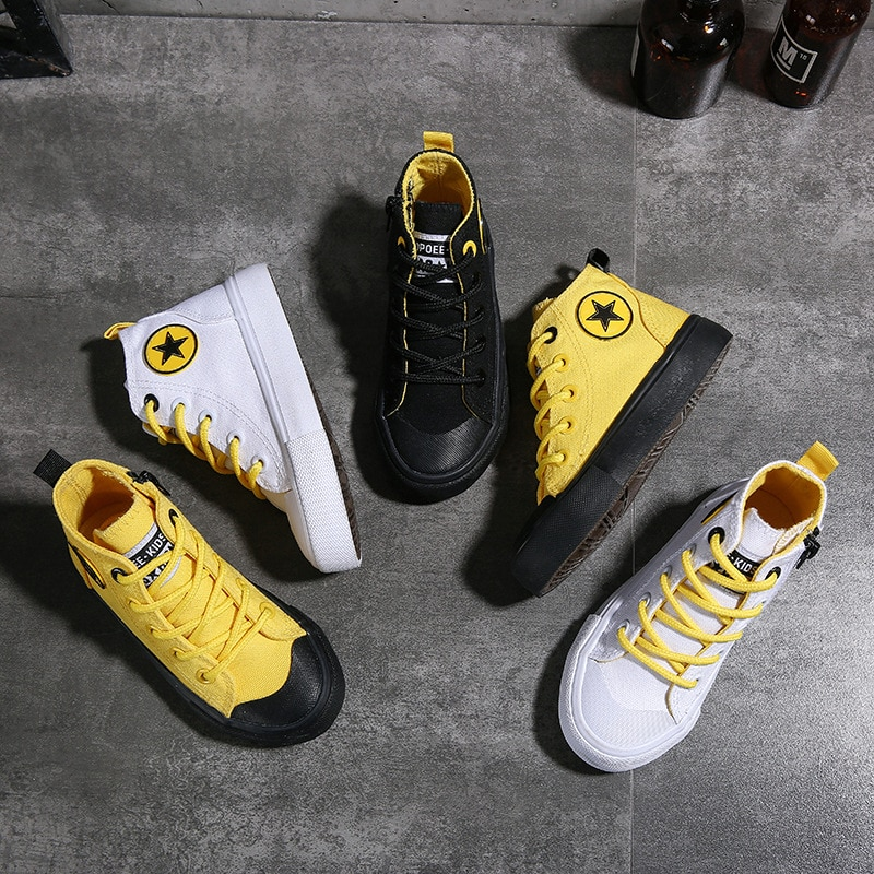 2020 Spring Fashion Kids Sneakers Girls Sneakers Boys Shoes Kids Canvas Shoes Size 25-38 Children Sh