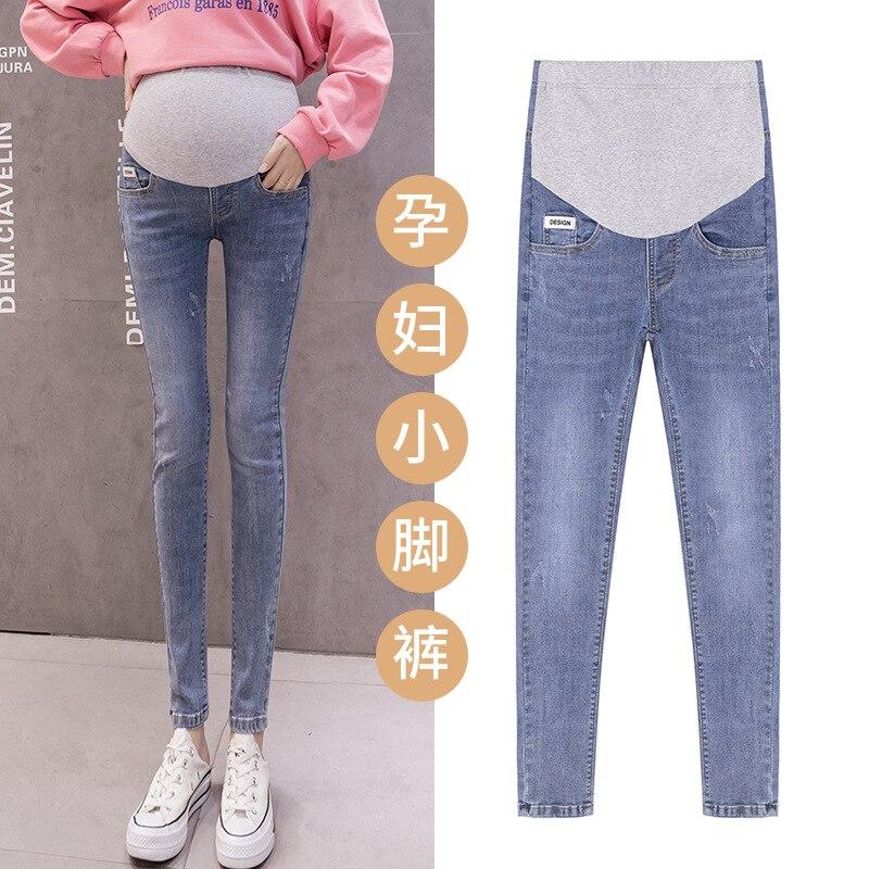 Maternity Pants for Pregnant Women Clothes Pregnancy Jeans Pants for Plus Size Adjustable Waist Denim Belly Jean Trousers Autumn enlarge