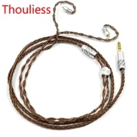 thouliess hifi 3 52 54 4mm balanced up occ single crystal copper mmcx connector headphone upgrade cable