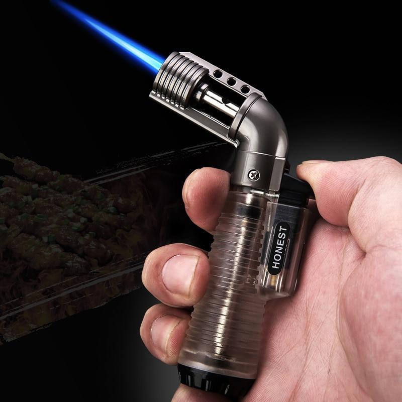 Encendedor Turbo de butano 1300C para exteriores, encendedor de Gas para cocinar, encendedores, encendedores de Metal, accesorios para fumar, aparatos para hombres