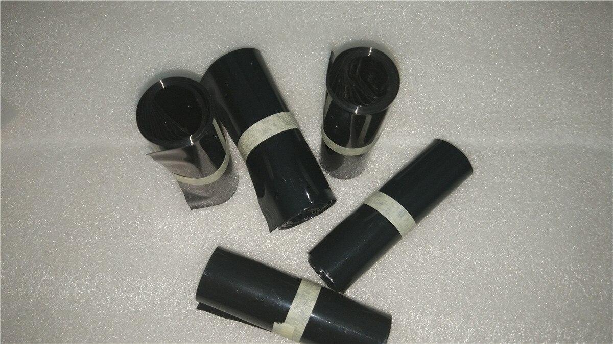 Tubo Termocontraíble de PVC negro, materiales de aislamiento electrónico 55/80/85/90/110/164/224mm de ancho para película de batería Lipo