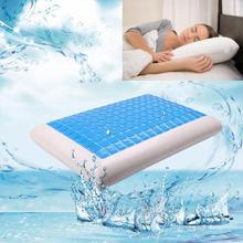 Coussin orthopédique de refroidissement doreiller de Gel de lit blanc de mousse de mémoire pour dormir