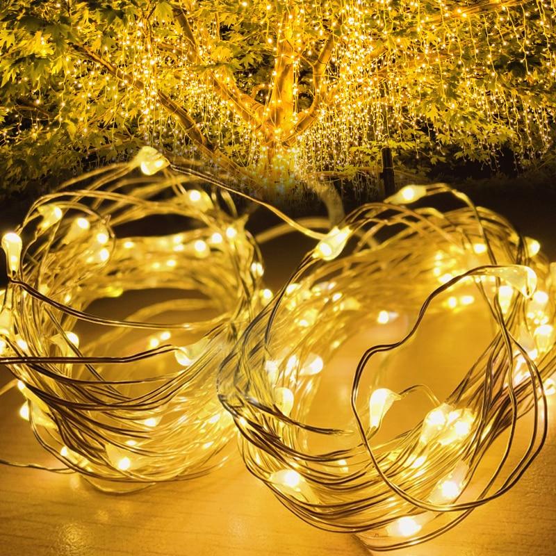LED Solar Light Waterproof Outdoor Garland light bar light Solar Power Lamp Christmas For birthday party wine light bar