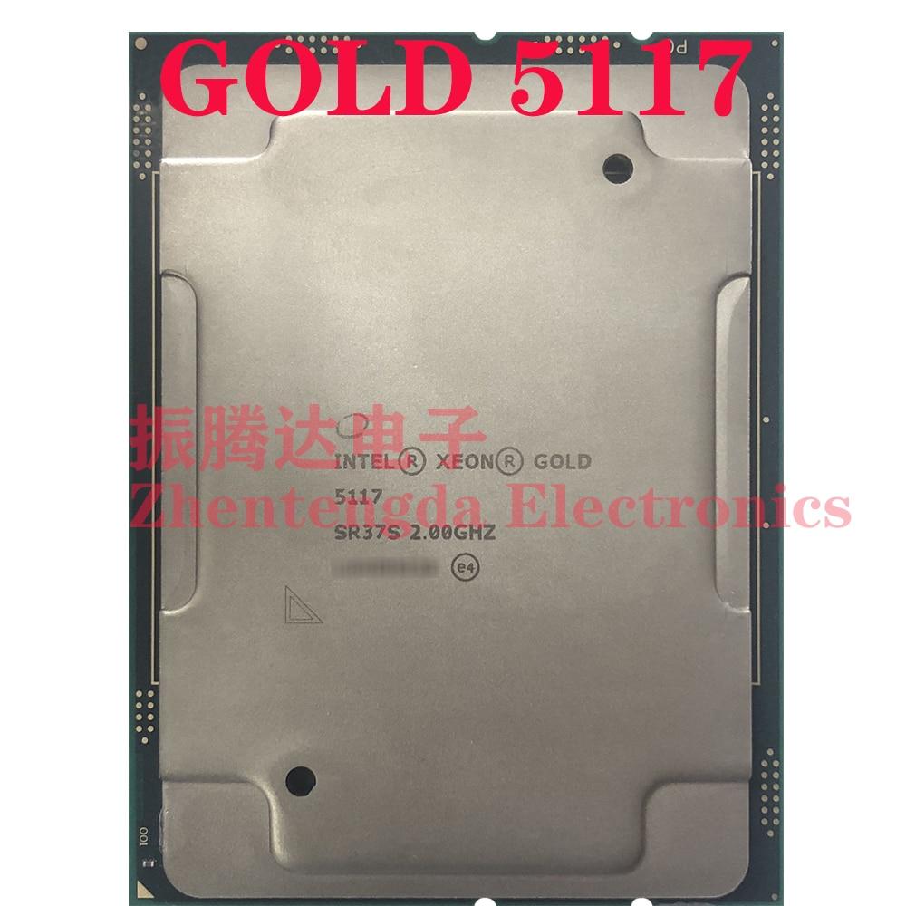Intel Xeon Gold 5117 Processor 2.00 GHz L3-19.25 MB 14 Core 28 Threads TDP 105W LGA-3647 Gold 5117 CPU Processor