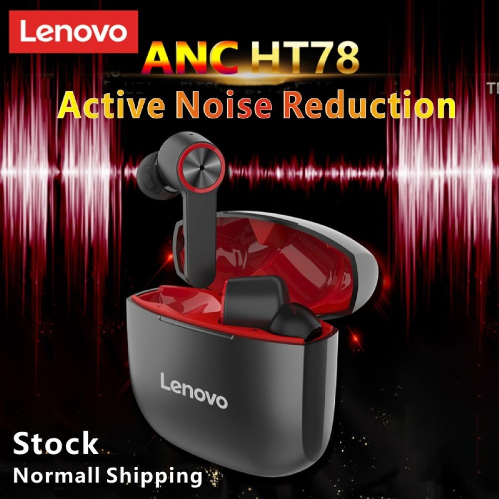 Lenovo HT78 Wireless Bluetooth Earphone With Microphone Waterproof TWS Hifi Stereo Sound ANC Gaming Earbuds With Charger Case enlarge