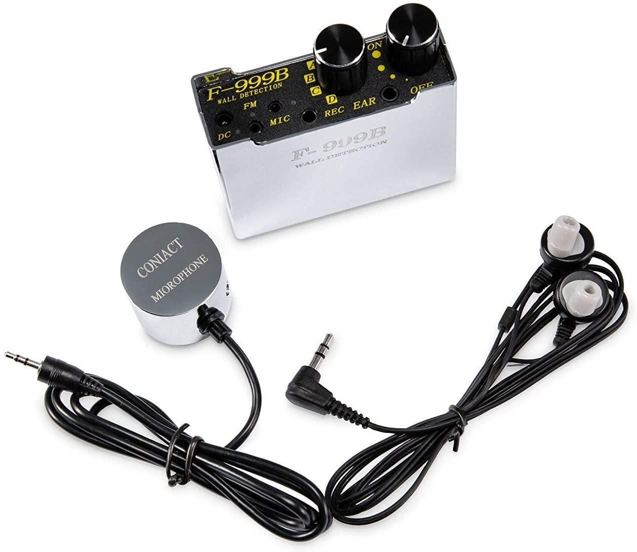 Detector Anti-mosquitos, F-999B Spytec de Audio altamente sensible, sonda de pared con amplificación de hasta 20000x Monitor de 100 horas