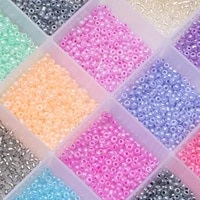seed beads bulk 234mm pony beads for handmade garments diy sewing craft glass seed beads for needlework jewelry accessories