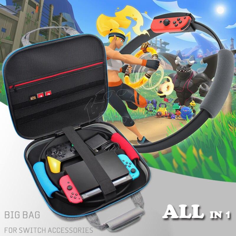 Bolsa de transporte grande para Nintendo Switch Fitness Ring/Dock/Pro Controller Estuche de transporte portátil para Nintendo Switch Accesorios