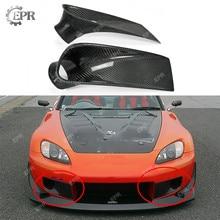 For Honda S2000 AP1 Carbon Fiber Front Bumper Air Duct Glossy Fibre Bumpers Air Vent Intake Trim Bodykits