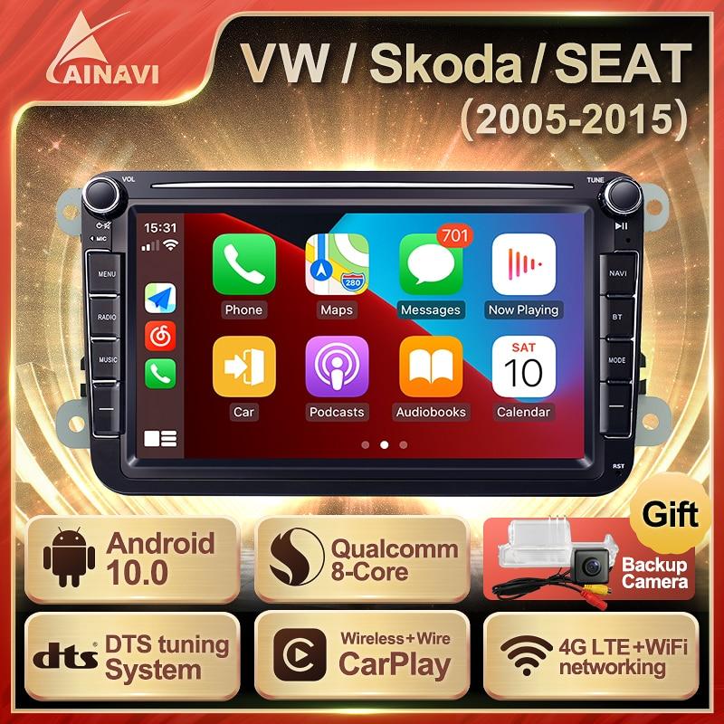 Car Radio Android 10 For VW Volkswagen Polo/Tiguan/Golf 6 7/Passat/b7/b6/Jetta/Skoda/Octavia Seat Ca