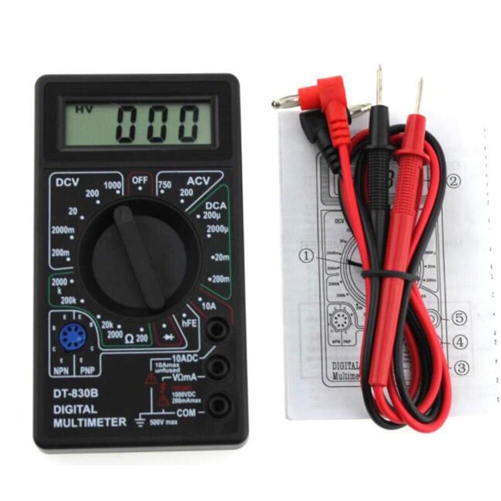 المهنية LCD جهاز إختبار مالتيميتر رقمى متر الفولتميتر مقياس التيار الكهربائي أوم DT830B