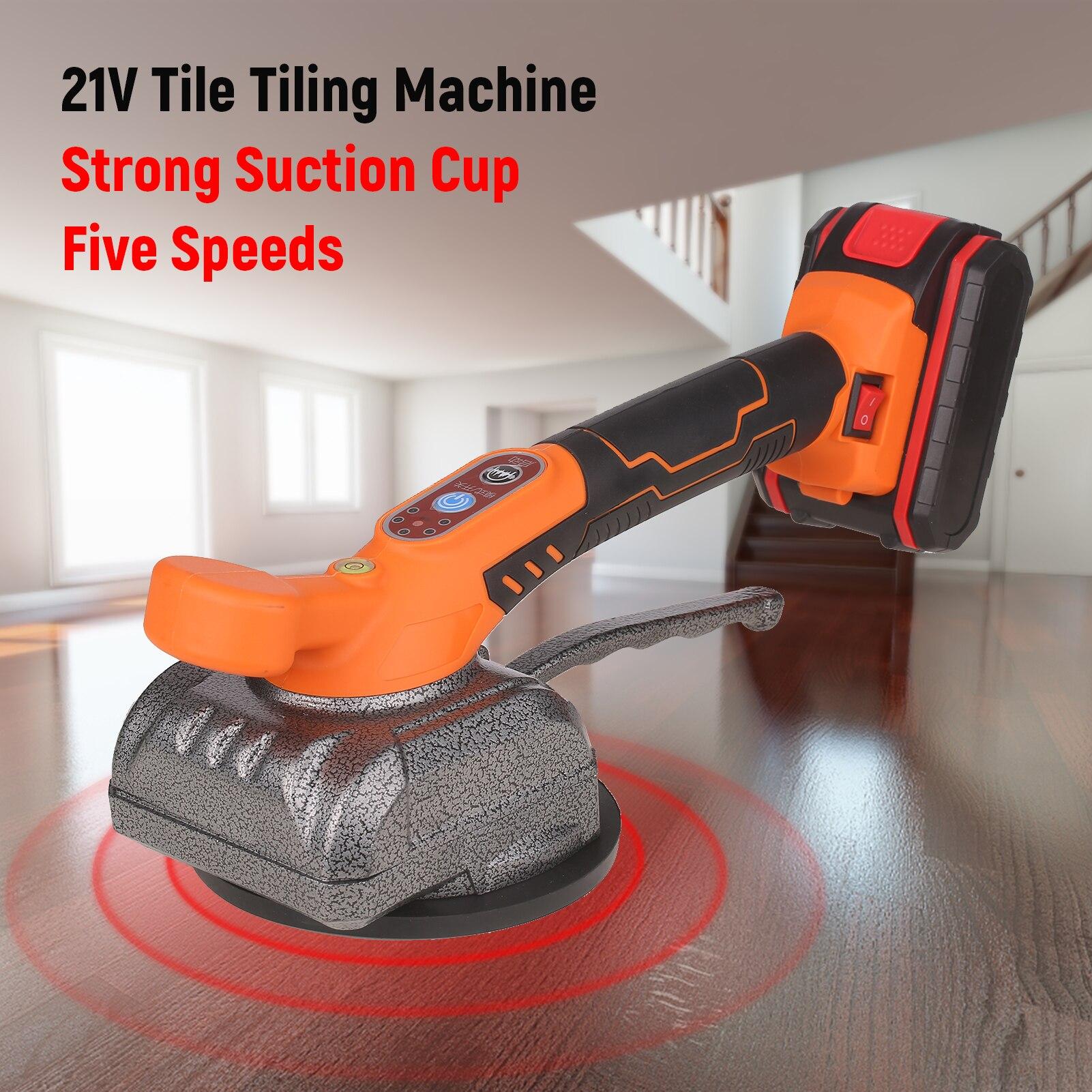 21 فولت بلاط بلاط آلة شفط كأس الكهربائية بلاط تركيب آلة بلاط رافع قابلة للشحن بلاط التسوية آلة هزاز