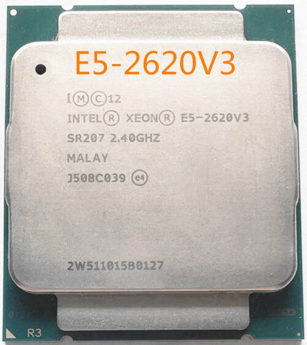 Processeur Intel Xeon E5-2620V3, processeur 6 cœurs, 2.40GHZ, 15 mo FCLGA2011-V3, 85W 22NM, Original E5 2620V3, E5-2620 V3, livraison gratuite