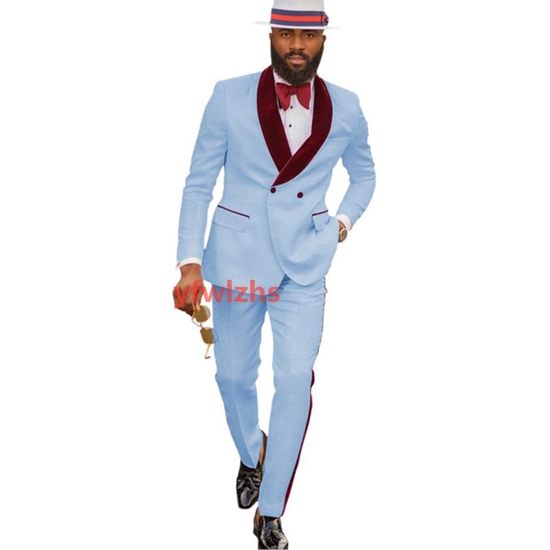 New Arrival Embossing Groomsmen Shawl Lapel Groom Tuxedos Men Suits Wedding/Prom Best Blazer ( Jacket+Pants+Tie) D08