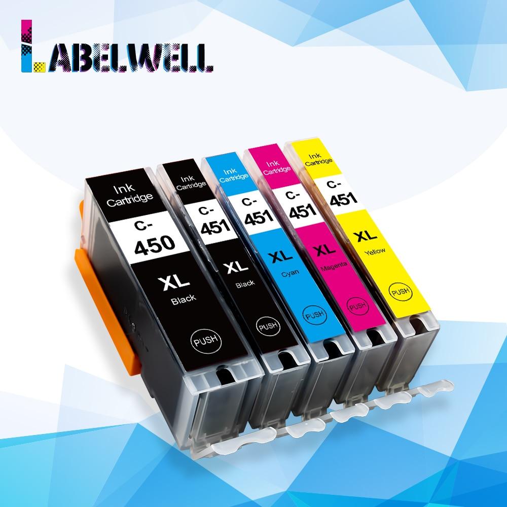 Совместимый картридж Labelwell PGI450 CLI451 PG 450 для Canon PIXMA IP7240 MG6340 MG7140 iP8740 MG7540 MX924
