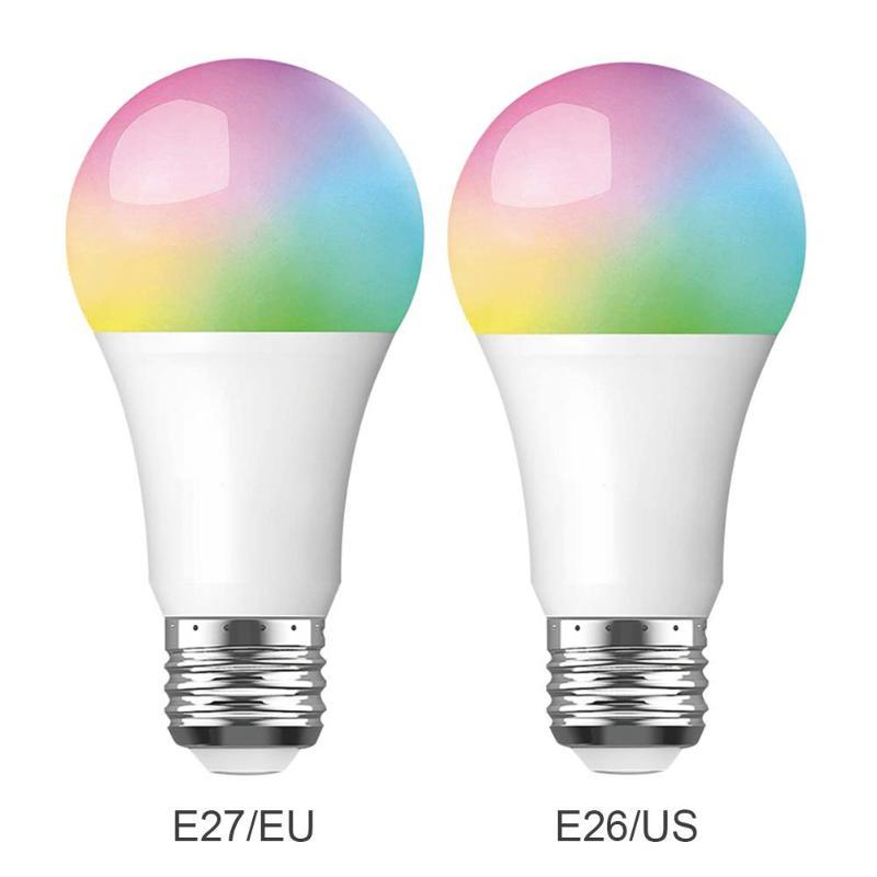Gran oferta de bombilla inteligente WiFi Tuya multifunción, Bombilla inteligente WiFi de 10W RGB, lámpara LED para Google Alexa Control de voz