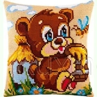 latch hook kits diy 3d segment embroidery pillow embroidered handcraft pillow case animal bera package coarse wool cross stitch